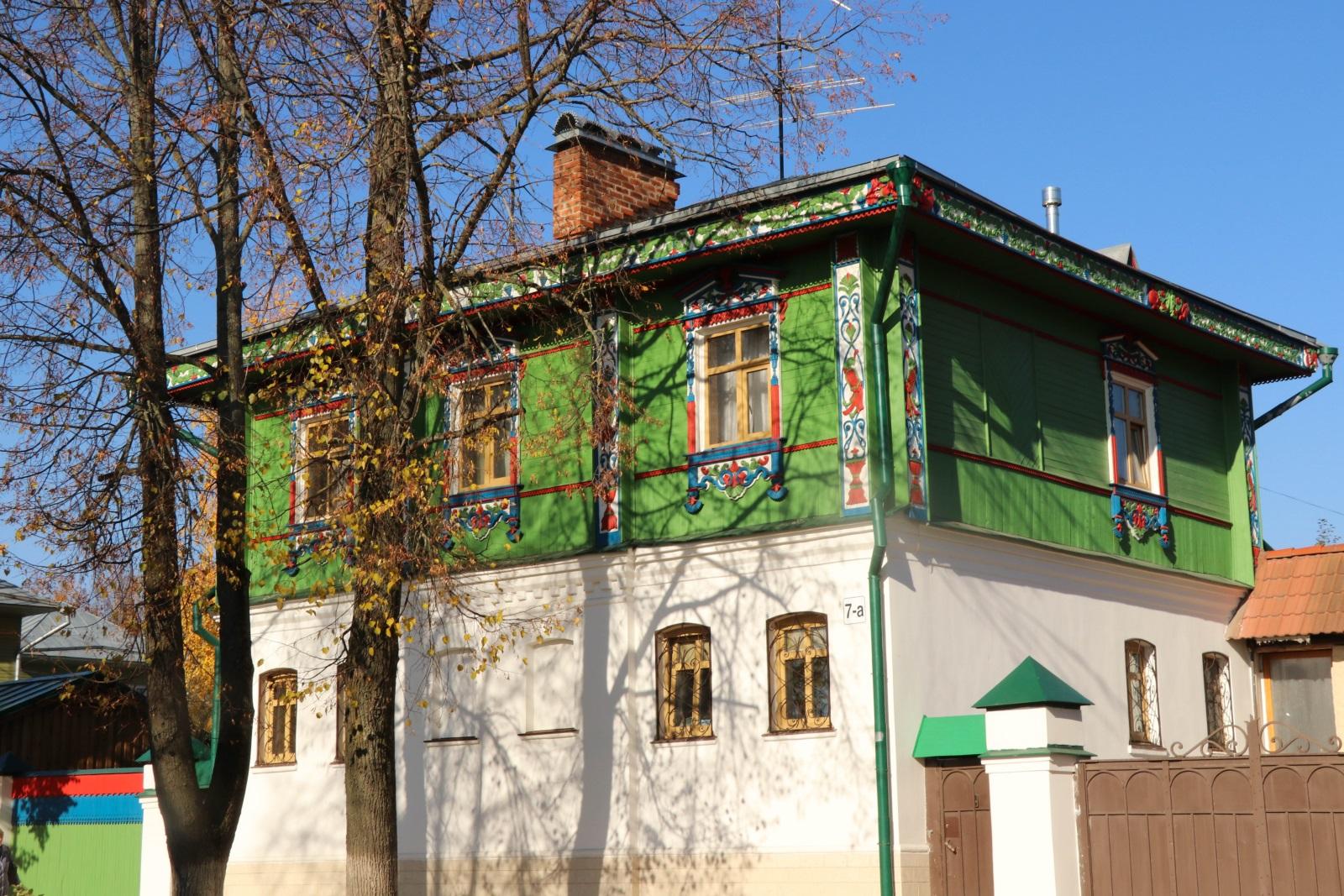 Деревянные дома в Суздале