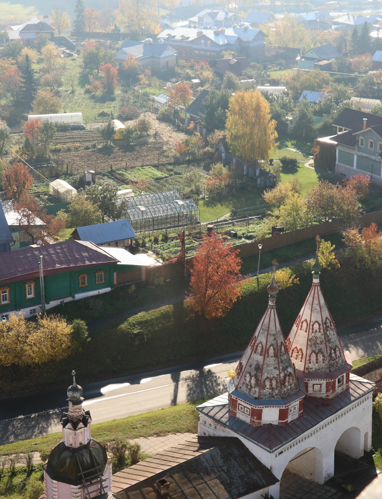 Вид на Суздаль с колокольни