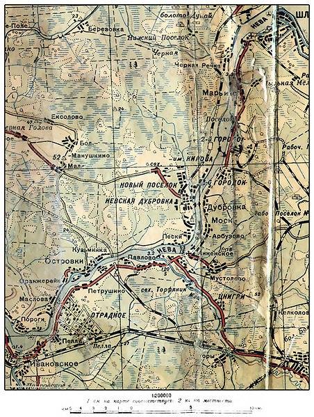 Карта с деревнями